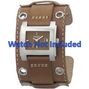 Fossil cinturino dell'orologio JR8149 Pelle Marrone 18mm + cuciture di default