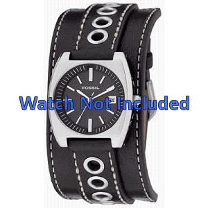 Cinturino per orologio Fossil JR8205 Pelle Nero 16mm