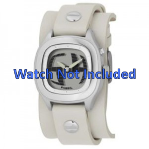Cinturino per orologio Fossil JR8224 Pelle Beige 16mm