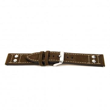 Cinturino per orologio Universale I367 Pelle Marrone 24mm