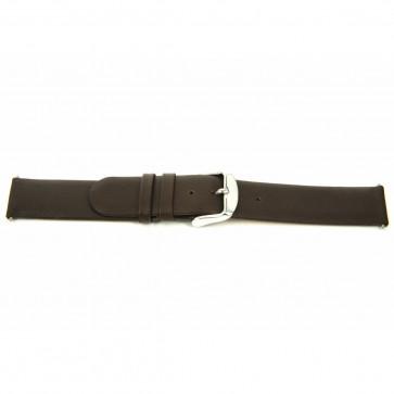 Cinturino orologio in vera pelle, marrone, 18mm J-56