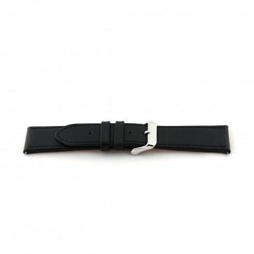 Cinturino orologio in pelle, extra-long, nero, 22mm EX-K63486