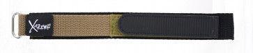 Cinturino orologio in velcro, 20mm, marrone chiaro