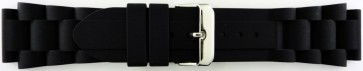Cinturino per orologio Universale SL101 Silicone Nero 20mm