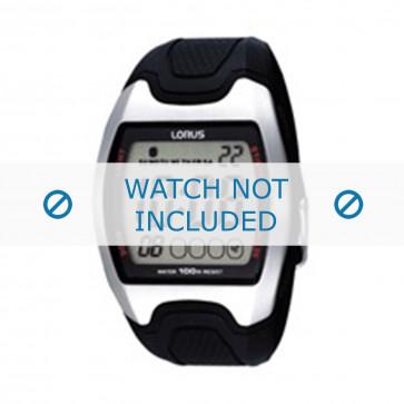 Lorus cinturino dell'orologio Z009-X002 Gomma / plastica Nero