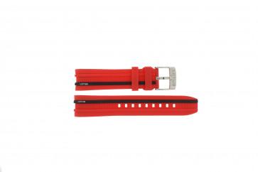 Cinturino per orologio Lotus 15881/2 Gomma Rosso 22mm