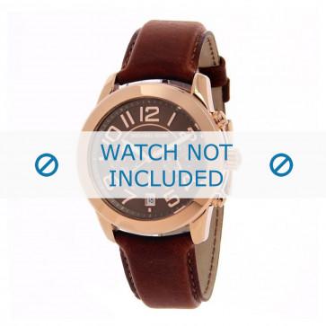 Michael Kors cinturino dell'orologio MK2265 Pelle Marrone chiaro 22mm + cuciture marrone