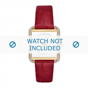 Michael Kors cinturino dell'orologio MK2623 Pelle Rosso 20mm