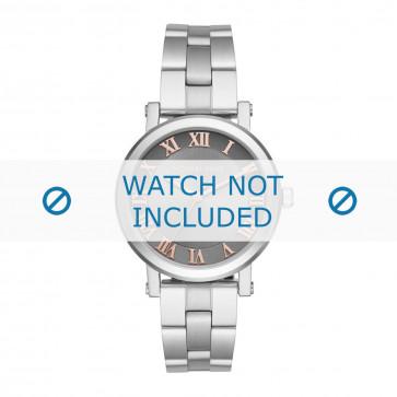 Michael Kors cinturino dell'orologio MK3559 Metallo Argento 18mm