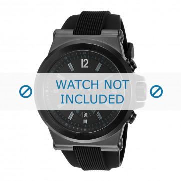 Cinturino per orologio Michael Kors MK8152 Gomma Nero 13mm