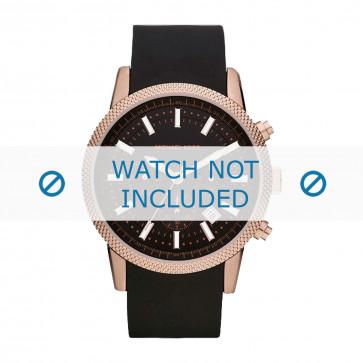 Cinturino per orologio Michael Kors MK8244 Gomma Nero 22mm