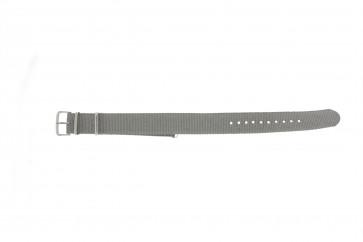 Cinturino per orologio WoW NATO-RO-5-20 Tessuto Grigio 20mm
