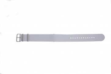 Cinturino per orologio Universale EX-WG34 Tessuto Bianco 20mm