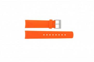 Cinturino per orologio Nautica A16567G / A16567G / A31505G / N14538G / N19523 Gomma Arancione 22mm
