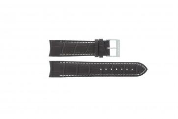 Nautica cinturino dell'orologio A34510G Pelle Marrone scuro 22mm + cuciture bianco