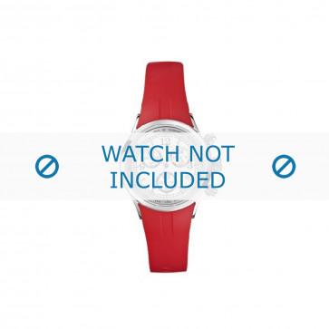 Nautica cinturino dell'orologio N13536L  Gomma / plastica Rosso