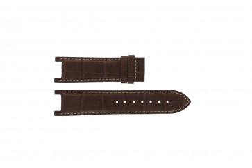 Guess cinturino dell'orologio GC41501G / 145003G1 Pelle Marrone 21mm + cuciture bianco