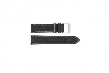 Festina cinturino orologio F16101/C Pelle Nero 22mm + cuciture bianco