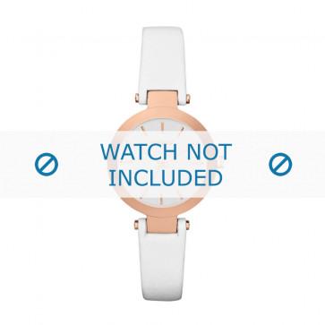 DKNY cinturino orologio NY-2405 Pelle Bianco 12mm