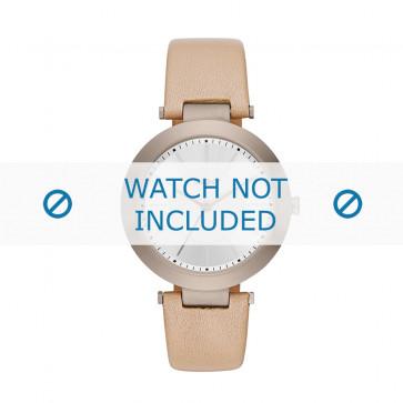 Cinturino per orologio DKNY NY2459 Pelle Beige 10mm
