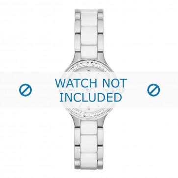 DKNY cinturino dell'orologio NY2494 Ceramica Bianco 8mm