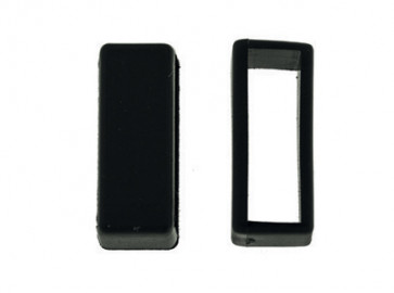Passante di Cinturino orologio in gomma, nero, 16mm