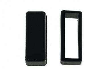 Passante di Cinturino orologio in gomma, nero, 22mm