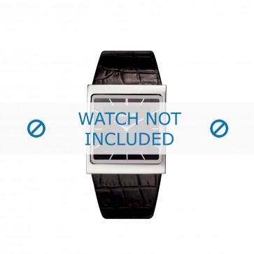 Police cinturino dell'orologio PL-10849M Pelle Nero 28mm
