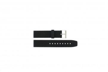 Cinturino per orologio Universale PU.102 Plastica Nero 20mm