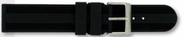 Cinturino per orologio Condor PU104 Gomma Nero 20mm