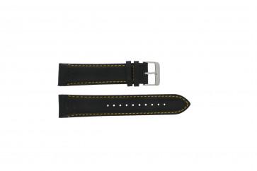 Cinturino per orologio Pulsar VK63-X001 / PU2007X1 / PP077X Pelle Nero 22mm