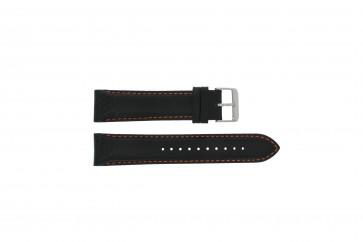 Cinturino per orologio Pulsar VK63-X001 / PU2071X1 / PU2029X1 Pelle Nero 22mm