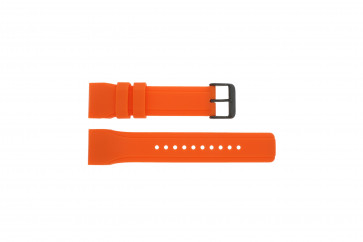 Cinturino per orologio Pulsar W861-X006 / PQ2013X1 / PP102X Gomma Arancione 24mm