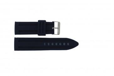 Cinturino per orologio Universale 253 Silicone Blu 26mm