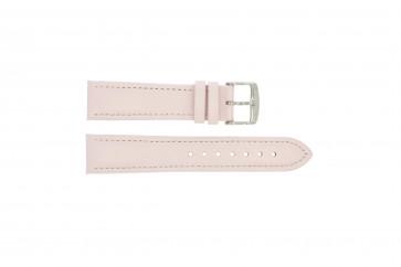 Cinturino orologio in vera pelle, rosa, 24mm 283
