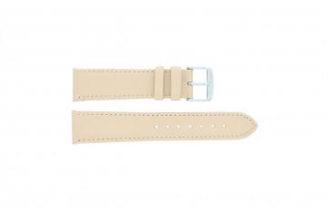 Cinturino orologio in vera pelle, color salmone / ocra, 18mm 283
