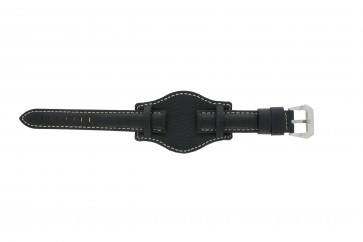 Cinturino per orologio Universale 386.1 Pelle Nero 18mm