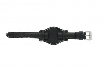 Cinturino per orologio Universale 386.1 Pelle Nero 22mm