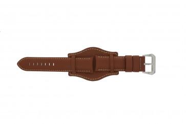 Cinturino per orologio Universale 386.8 Pelle Marrone 22mm