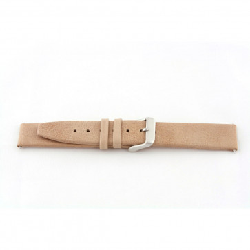 Cinturino orologio in vera pelle, beige, 24mm G33