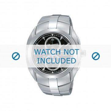 Cinturino per orologio Seiko 7T62-0JA0 01B / SNAC15P1 Acciaio 20mm