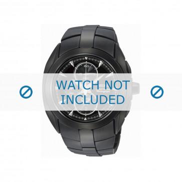 Seiko cinturino dell'orologio SNAD11P1 / 7T62 0JA0 04B / 4A571MM Metallo Nero 20mm