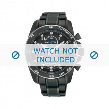 Cinturino per orologio Seiko 7T62-0KV0 (04B) / SNAE77P1 / M0ND111M0 Acciaio Nero 21mm
