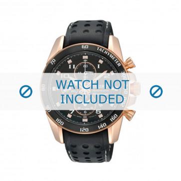 Seiko cinturino dell'orologio SNAE80P1 / 7T62-0KV0 / L01M015P0 / 7T62-0KV006B Pelle Nero 21mm
