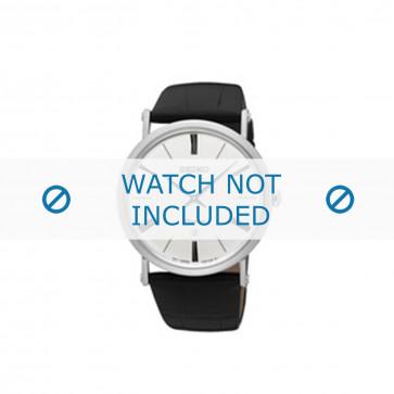 Cinturino per orologio Seiko 7N39-0CA0 Pelle Nero 24mm