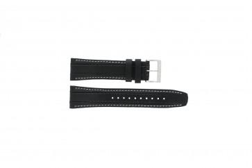 Cinturino per orologio Seiko 7T62-0HL0 / SNAB55P1 Pelle Nero 24mm