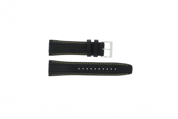 Cinturino per orologio Seiko 7T62-0HL0 / SNAB57P1 / 4LP3JB Pelle Nero 24mm