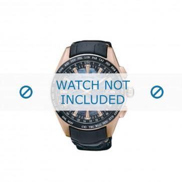 Cinturino per orologio Seiko 8X22-0AE0 / SSE105J1 Pelle Nero 22mm