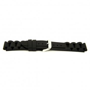 Other brand cinturino dell'orologio SL101 Silicone Nero 22mm