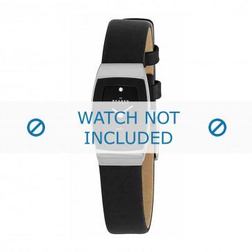 Skagen cinturino orologio 271SSLB Pelle Nero 12mm